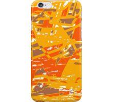 Funk (orange brown yellow) iPhone Case/Skin