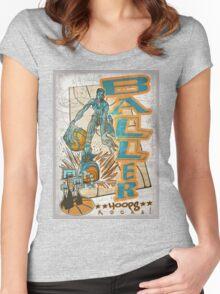 Baller Basketball Hoops Player Women's Fitted Scoop T-Shirt