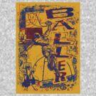 Slam Dunk Baller Yellow and Purple by MudgeStudios