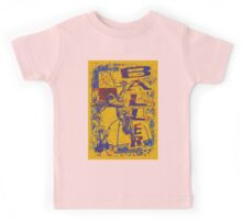 Slam Dunk Baller Yellow and Purple Kids Tee