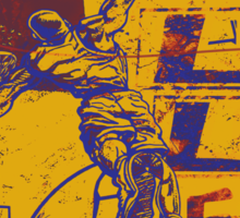 Slam Dunk Baller Yellow and Purple Sticker