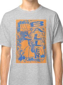 Baller Basketball Hoops Slam Dunk Blue Orange Classic T-Shirt