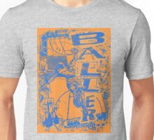 Baller Basketball Hoops Slam Dunk Blue Orange Unisex T-Shirt