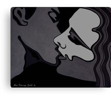 Midnight Lovers - Passion in monochrome Canvas Print