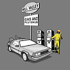 Back to the Future Delorean &#x27;Hill Valley Gas Station&#x27; by Creative Spectator