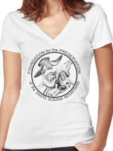 """""""Masked Tribe"""" by Tristan Edgarian Women's Fitted V-Neck T-Shirt"""