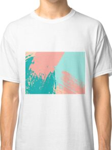 Pastel Colored Abstract Brush Strokes Classic T-Shirt