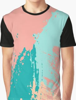 Pastel Colored Abstract Brush Strokes Graphic T-Shirt