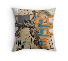 Slam Dunk Baller Basketball Throw Pillow