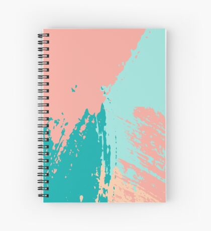 Pastel Colored Abstract Brush Strokes Spiral Notebook