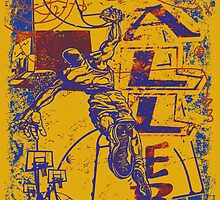 Slam Dunk Baller Yellow and Purple by MudgeStudios