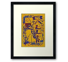 Slam Dunk Baller Yellow and Purple Framed Print