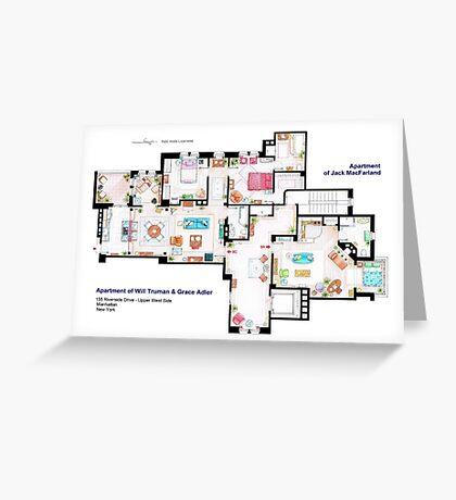 Apartments of Will Truman, Grace Adler and Jack MacFarland Greeting Card