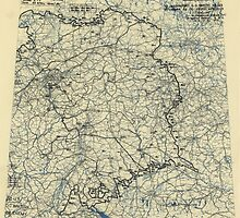 April 26 1945 World War II Twelfth Army Group Situation Map by allhistory