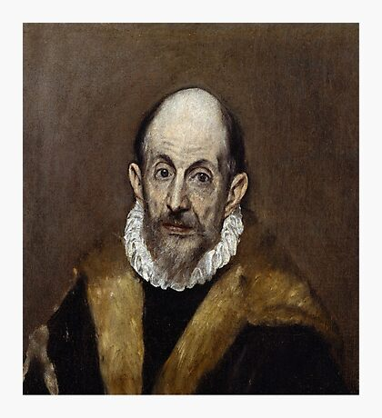 Portrait of a Man (Presumed Self Portrait) by El Greco (c 1595-1600) Photographic Print