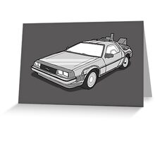 Back to the Future Delorean  Greeting Card
