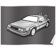 Back to the Future Delorean  Poster