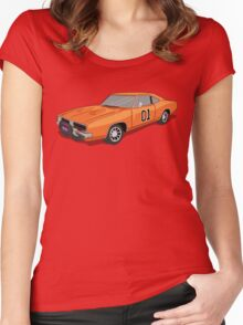 Dukes Of Hazzard (General Lee's Car) Women's Fitted Scoop T-Shirt