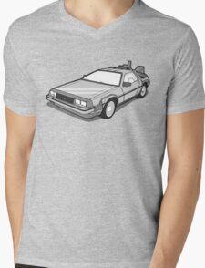 Back to the Future Delorean  Mens V-Neck T-Shirt