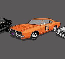 Retro Auto Heros Dukes of Hazzard Knight Rider  by Creative Spectator