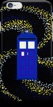 8Bit TARDIS by mikasierra