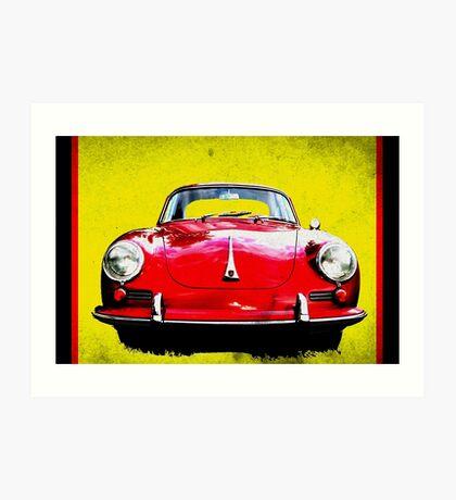 German Flag Porsche 356 Super 90 Red Black Yellow Gold Art Print