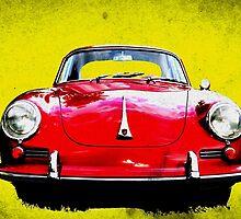 German Flag Porsche 356 Super 90 Red Black Yellow Gold by HotSaus Design