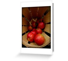 Apples in Barrel Greeting Card