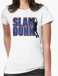 Basketball Slam Dunk Womens Fitted T-Shirt