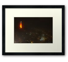 Fog-Draped Telegraph Hill Framed Print