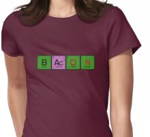 Pure Elemental Bacon Womens Fitted T-Shirt