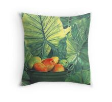 Tropical Fruit Throw Pillow
