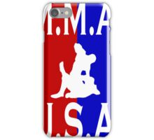 U.S.A. M.M.A. logo 1 iPhone Case/Skin