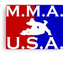 U.S.A. M.M.A. logo 2 Canvas Print