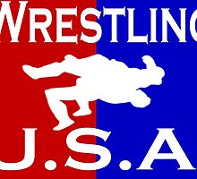 U.S.A. Wrestling logo by Euvari
