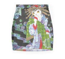 Snowflake - Japanese Ukiyoe Courtesan Cat Mini Skirt