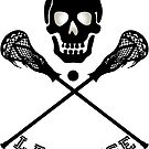 Skull and Lacrosse Sticks  by Gravityx9