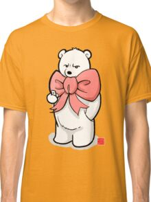 Polar Bear In Pink Ribbon Classic T-Shirt