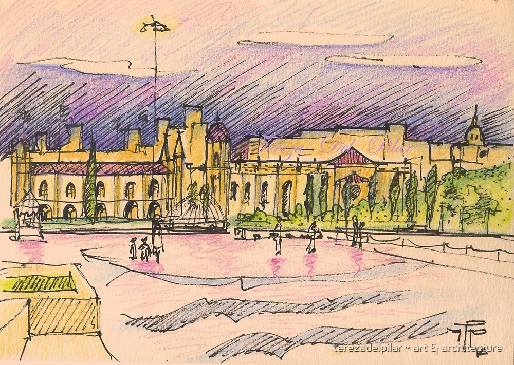 Jerónimos sketch III by terezadelpilar ~ art & architecture