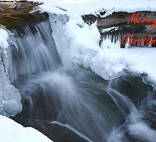 Merry Christmas Waterfall by Adam Bykowski