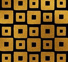 Gold Foil Art Deco Pattern by Iveta Angelova