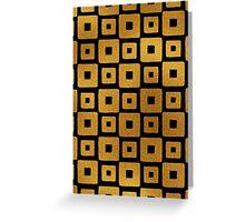 Gold Foil Art Deco Pattern Greeting Card