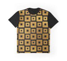 Gold Foil Art Deco Pattern Graphic T-Shirt
