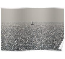 Sailing the Silver Sea Poster