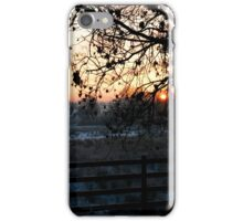 Frosty Christmas Eve Sunset iPhone Case/Skin