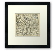 April 9 1945 World War II HQ Twelfth Army Group situation map Framed Print