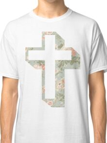 floral-cross Classic T-Shirt