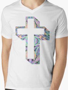 80's colour-cross Mens V-Neck T-Shirt