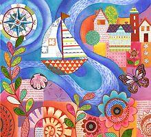 Summer Harbor by Janet Broxon