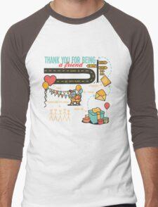 Pals and Confidants Men's Baseball ¾ T-Shirt